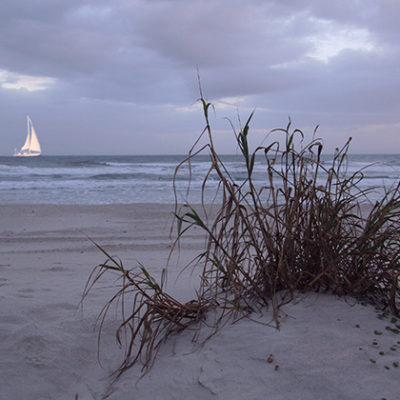 Sailboat at New Smyrna Beach